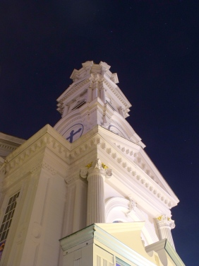 High Rock Church under the starry sky of Town Night. September 16, 2011.