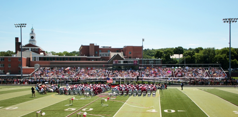 The Arlington High School graduation exercises on Warren A. Peirce Field. June 10, 2012.