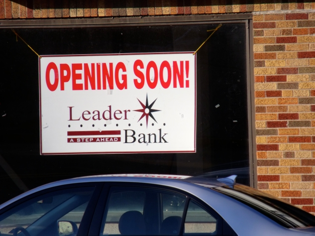 Leader Bank will open soon at the former location of Video Horizons on Massachusetts Avenue in the Heights.August 19, 2012.