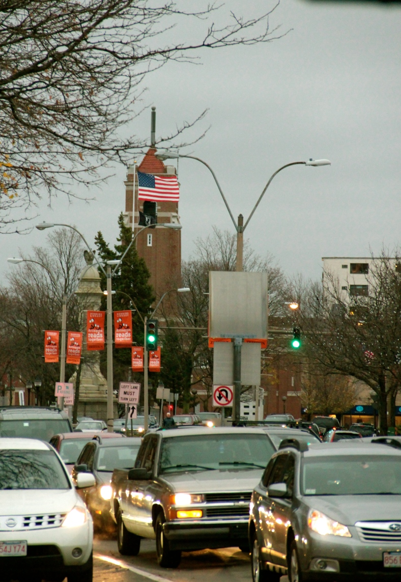 Massachusetts Avenue in Arlington Center.November 23, 2011.