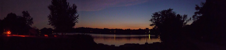 Spy Pond Park at twilight.August 1, 2011.