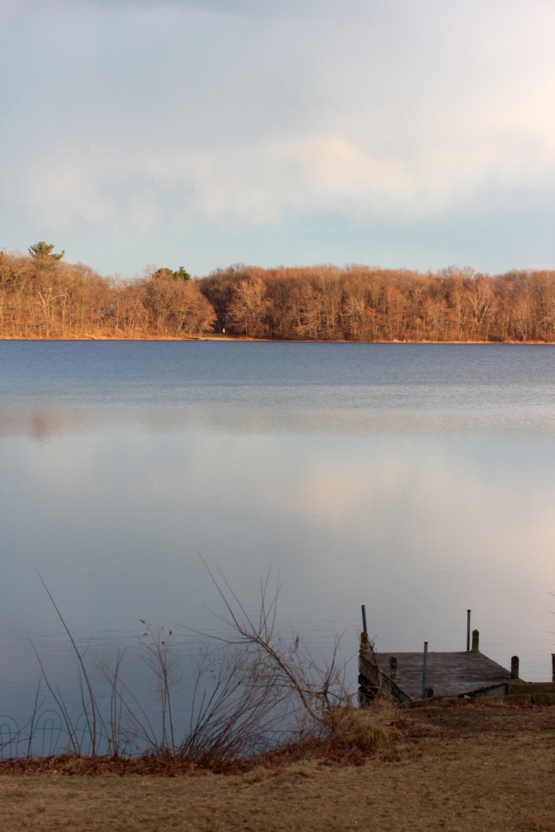 A private dock leads out to the Lower Mystic Lake.March 9, 2012.