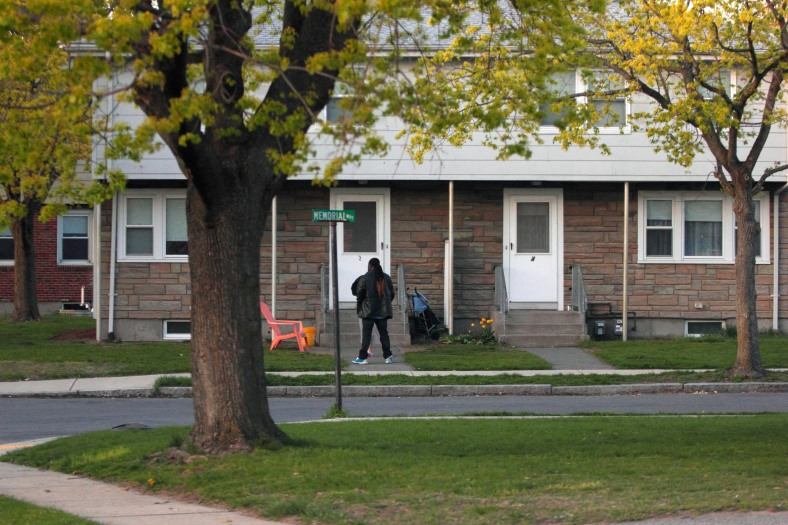 A view of Memorial Way homes in East Arlington. April 28, 2013.