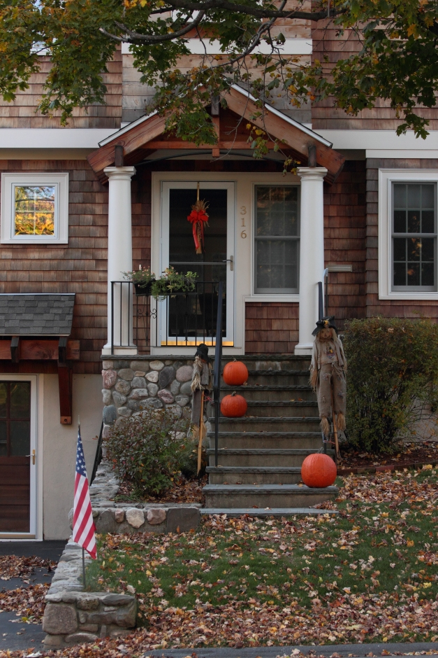 A home on Washington Street decorated for the fall. October 22, 2012.