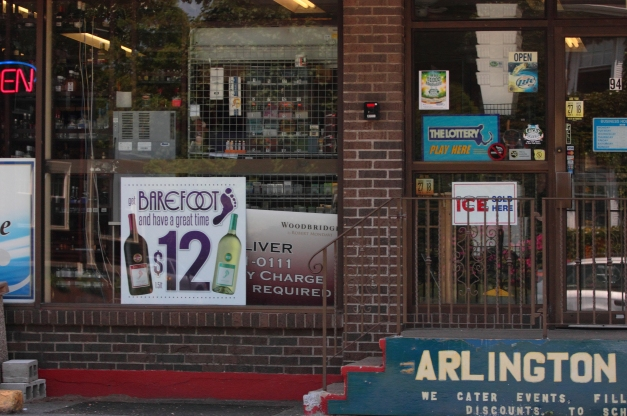 The front of a package store on Summer Street. May 31, 2013.