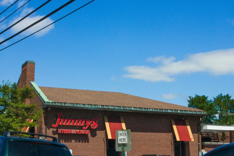 Jimmy's Steakhouse, for years an Arlington favorite, on Massachusetts Avenue. August 14, 2013.