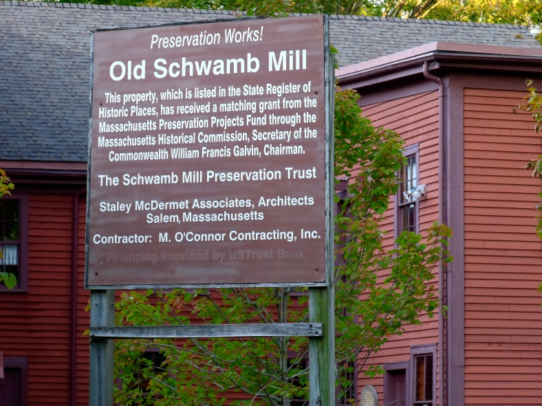A sign outside the Old Schwamb Mill. October 21, 2010.