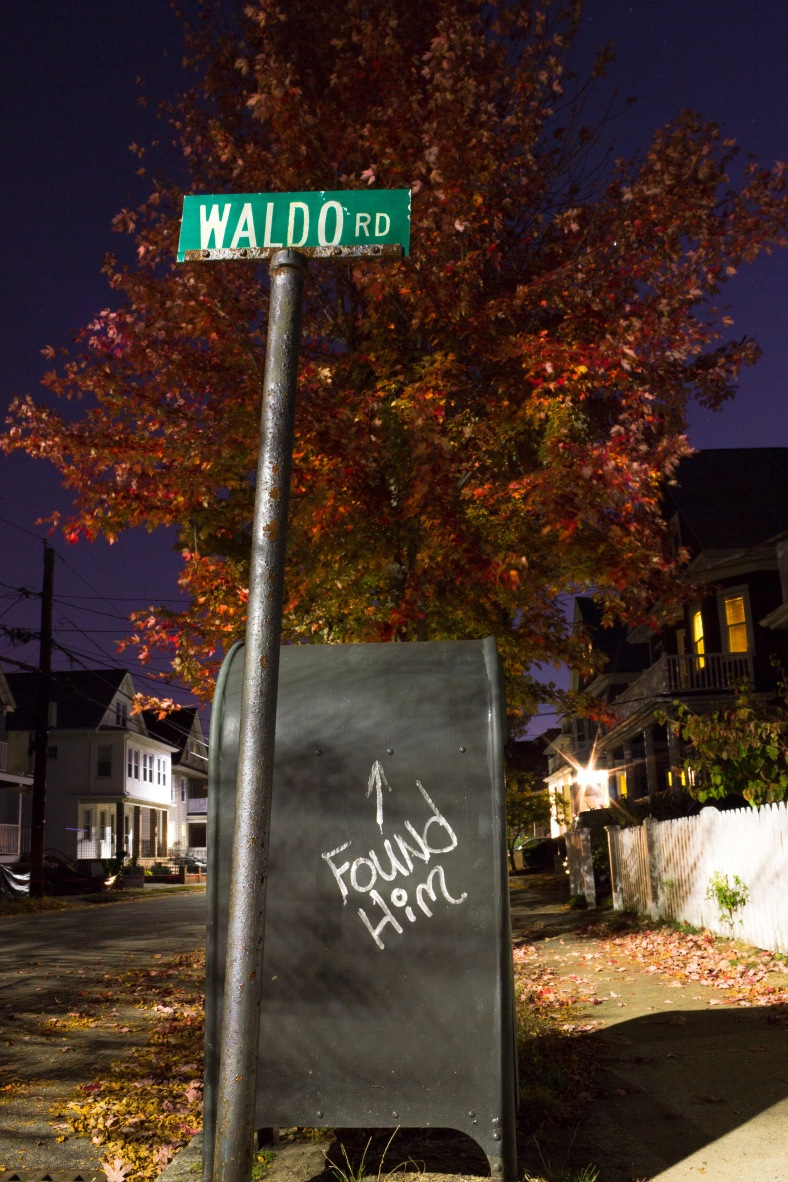 A bit of referential graffiti on a Cleveland Street mailbox. October 21, 2013.