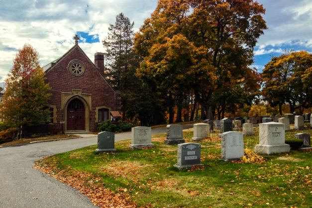 An autumn scene in Mouth Pleasant Cemetery. November 2, 2013.