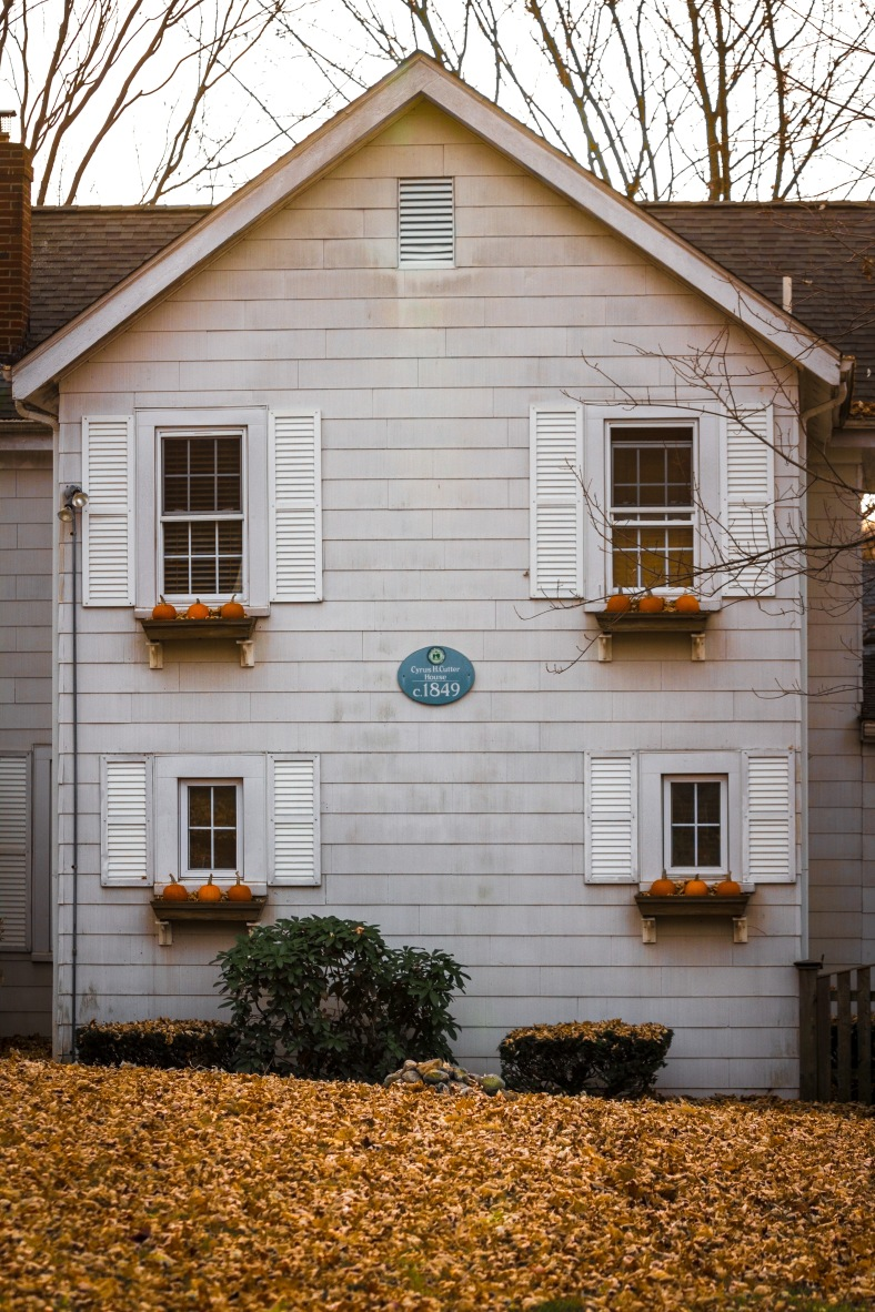 The Cyrus H. Cutter House on Rockmont Road decorated for the fall. November 15, 2013.