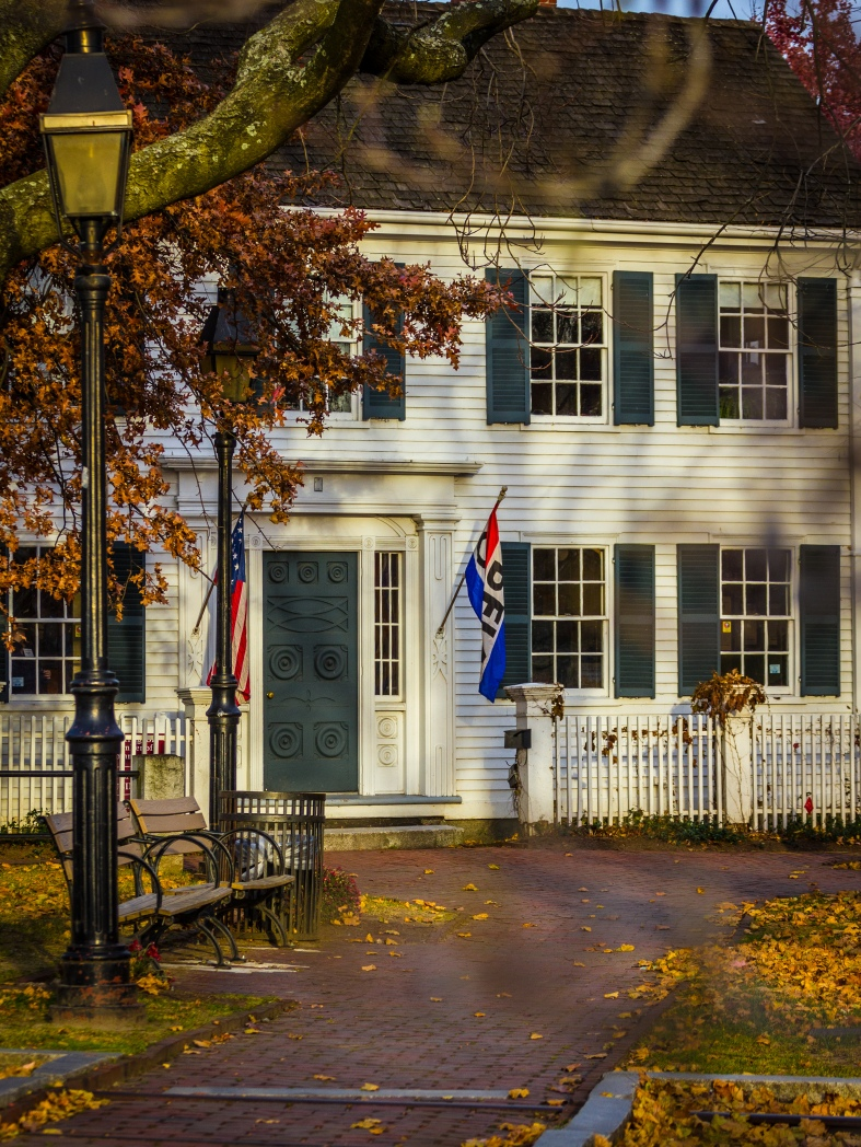 Whittemore park and the Cyrus E. Dallin Museum. November 15, 2013.