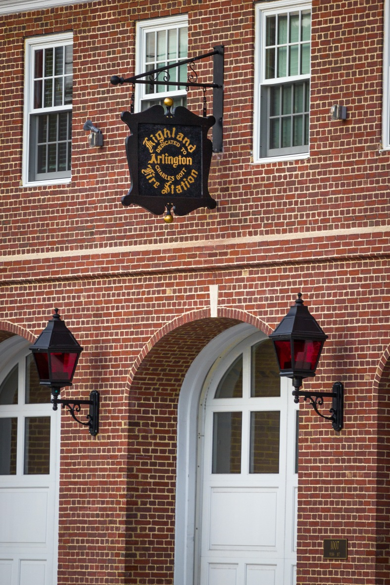 The front of the recently renovated Highland Fire Station on Massachusetts Avenue. November 15, 2013.