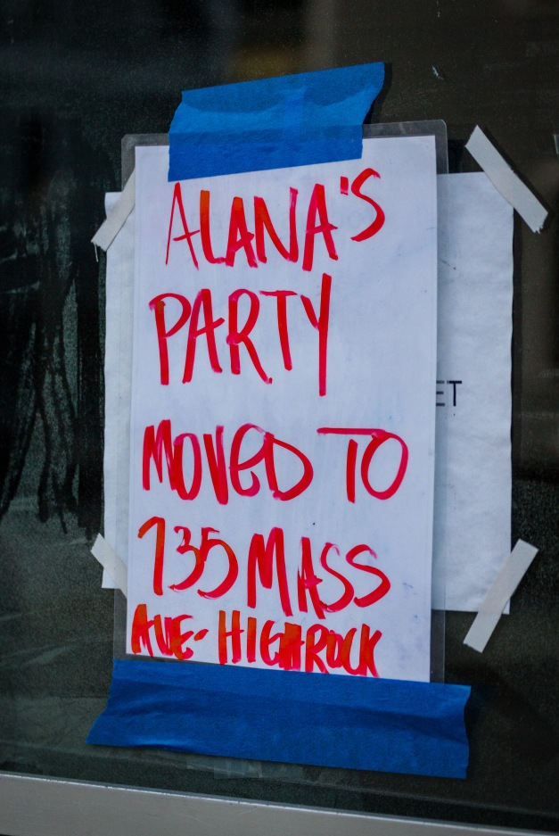 Alana apparently decided that the former Holovak and Coughlin store on Mill Street, now owned by the Highrock Church, was not a suitable location for her party. January 13, 2014.