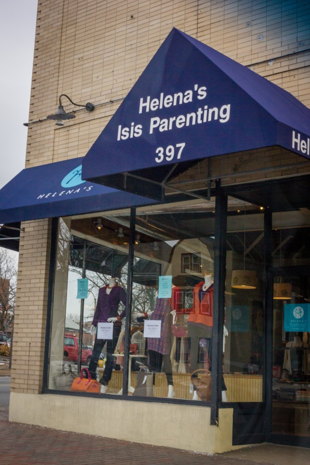 Helena's Isis Parenting across front the Central Fire Station in Arlington Center. February 3, 2014.
