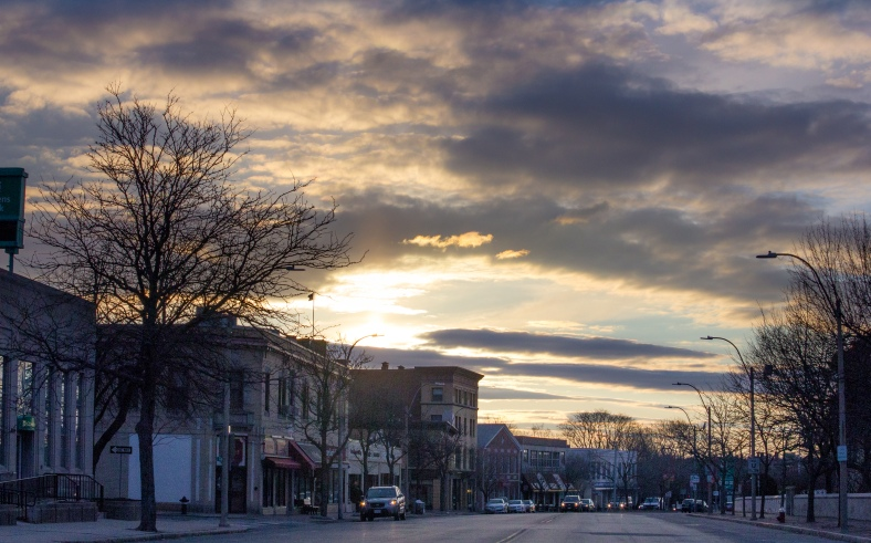 The first surmise of the season over Massachusetts Avenue. March 21, 2014.