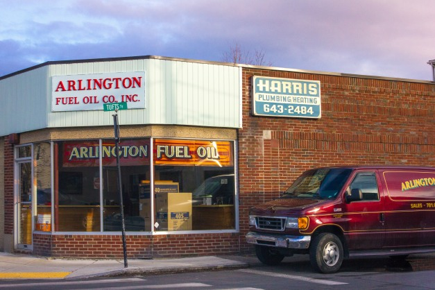 Arlington Fuel Oil Co. at their corner location on Broadway. March 21, 2014.