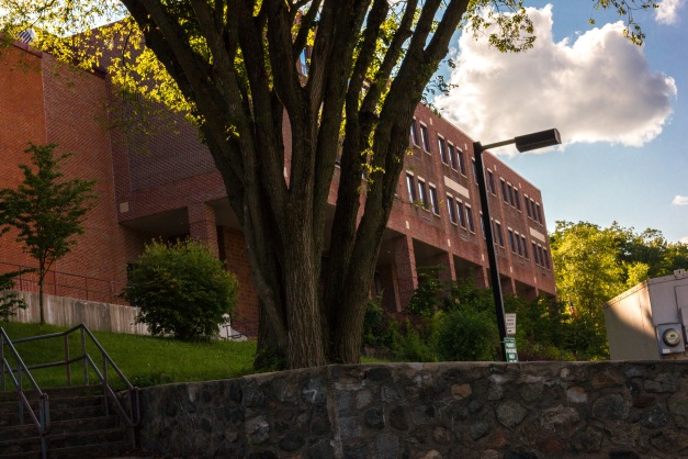 A shot of the Ottoson Middle School, vacant during summer break. August 8, 2014.