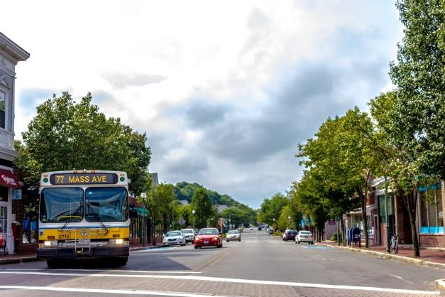 Calm traffic on Massachusetts Avenue in Arlington Heights. August 31, 2014.