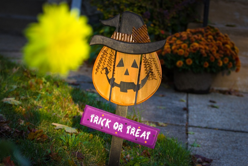 A sign of Halloween in front of a Washington Street home. October 17, 2014.