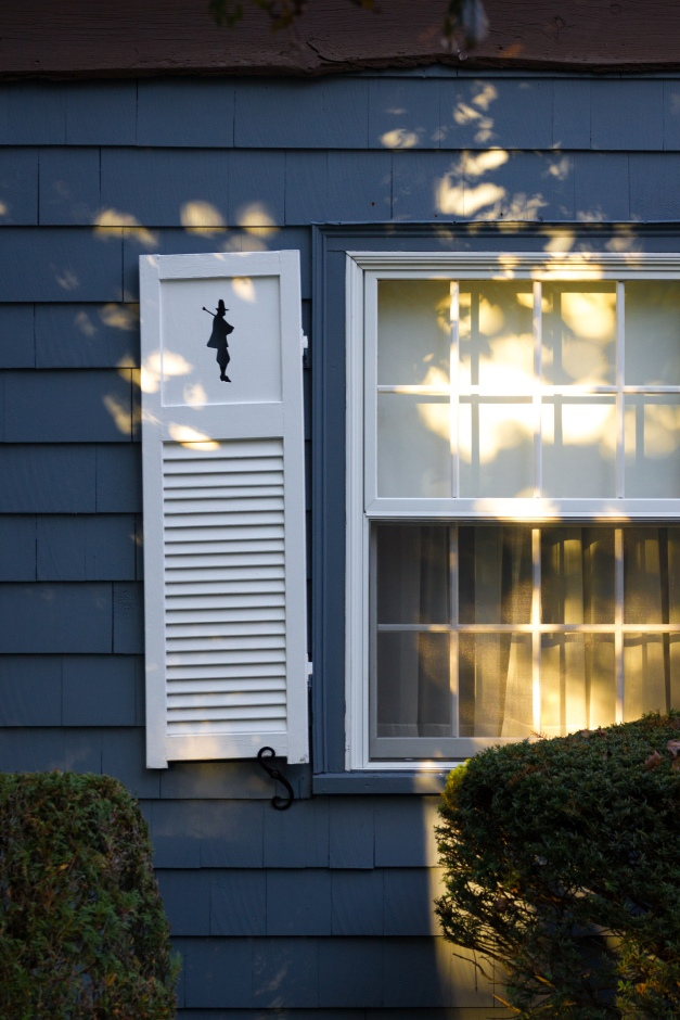 A decorative cutout on the shutters of a Mountain Avenue home. October 17, 2014.