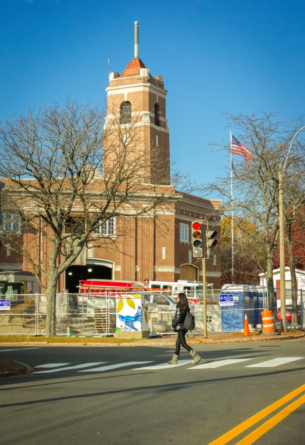 Renovations continue on the Central Fire Station. November 10, 2014.
