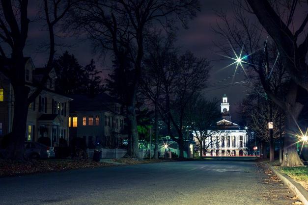 Arlington High School as seen down Churchill Avenue. December 20, 2014.