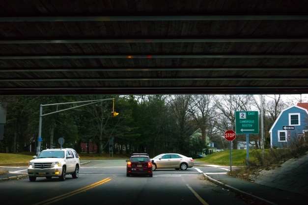 The underpass that connects Arlington to the small Arlmont area on the south side of the Concord Turnpike. January 03, 2015.