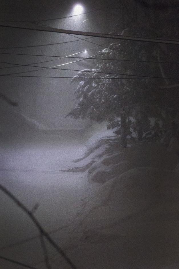 A look down a snowy Hemlock Street during an overnight blizzard. February 15, 2015.