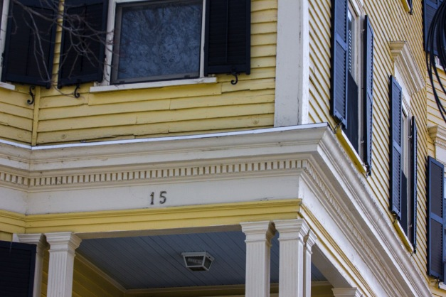 A detail of a house on Jason Street. March 07, 2015. SC