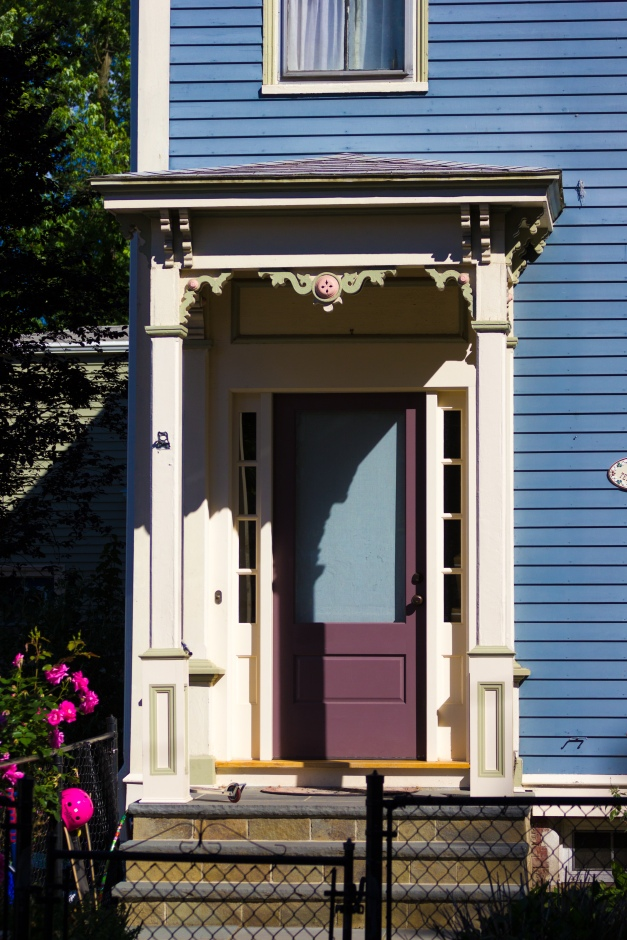 The front door to a home on Teel Street. June 20, 2014.