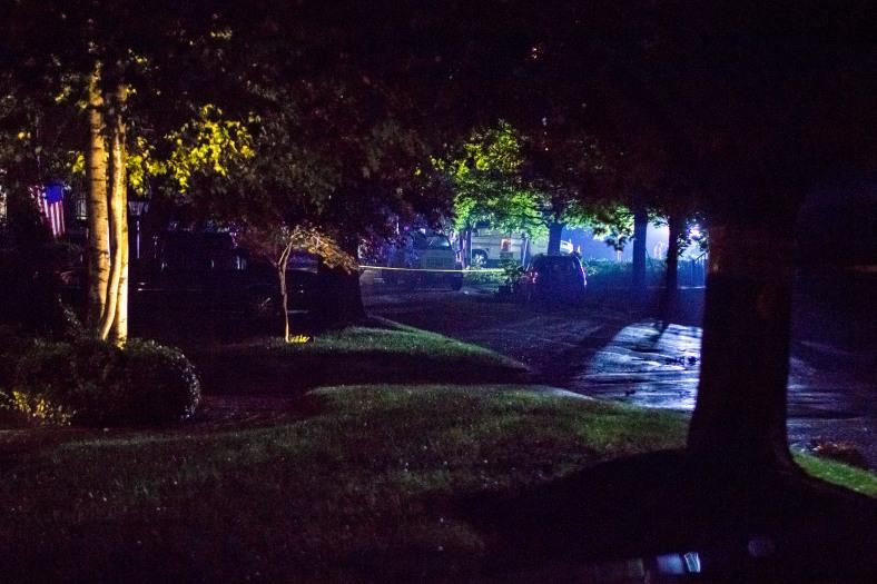 Night work on utilities on Pheasant Avenue. July 16, 2014.