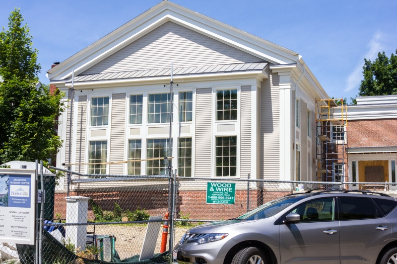 A newly constructed wing of the Pleasant Street Congregational Church looking just about ready to be enjoyed by parishioners. June 07, 2015.