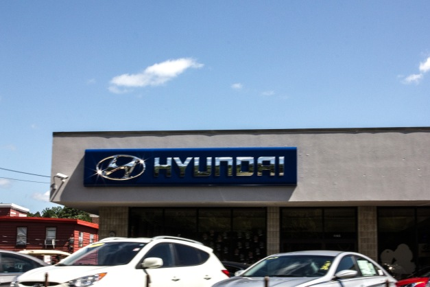 A Mirak Hyundai dealership on Massachusetts Avenue. August 14, 2013.