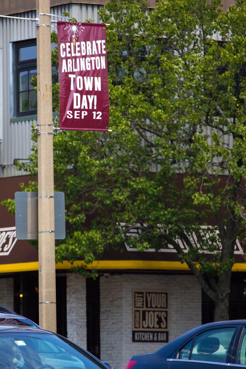 An advanced reminder in Arlington Center that Town Day will be held on September 12th. August 29, 2015.