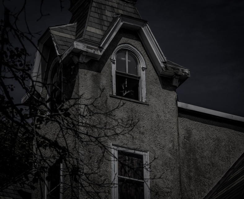 A spooky looking house on Lewis Avenue. August 29, 2015.
