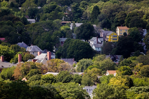 A yellow house on the hill in Arlington Heights. August 29, 2015