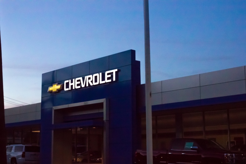 The Chevrolet dealership on Massachusetts Avenue in Arlington Heights. September 26, 2015.