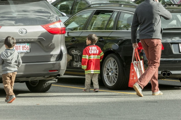 The fire chief inspects the Whole Foods parking lot. October 04, 2015.