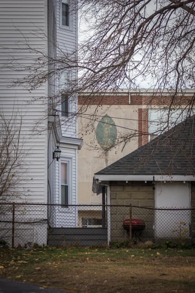 Arlington Catholic High School as seen from Belton Street. November 15, 2013.