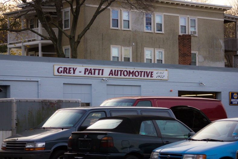 Grey - Patti Automotive on Massachusetts Avenue. November 15, 2013.