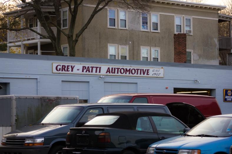 Grey - Patti Automotive on Massachusetts Avenue. November 15, 2013.
