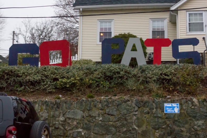 A home along Massachusetts Avenue shows their support for the regional professional football team. December 14, 2015.