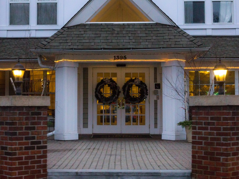 The front entrance of Sunrise of Arlington, a senior living community. December 14, 2015.