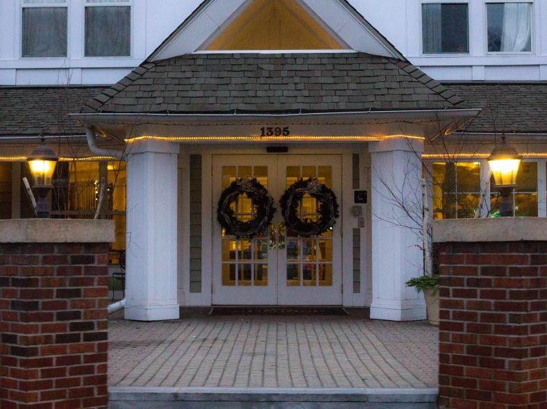 The front entrance of Sunrise of Arlington, a senior living community. December 14, 2015.