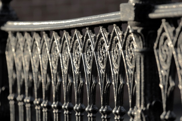 A cast iron fence along Broadway. March 13, 2012.