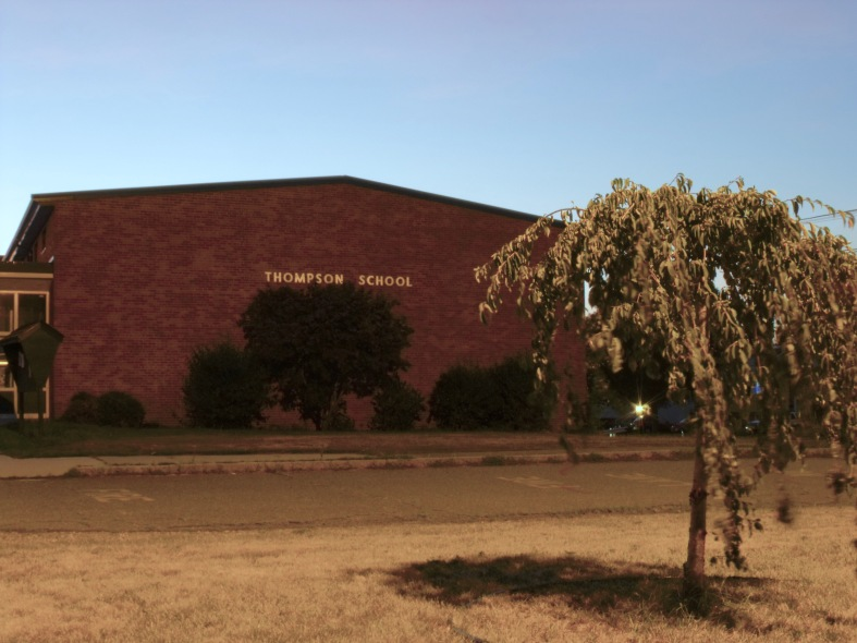 The Thompson Elementary School before being torn down and rebuilt. August 1, 2011.